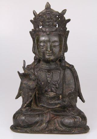Antique Chinese Bronze Buddha Statue Ming Dynasty 16th 17th C. 12