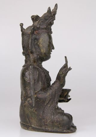 Antique Chinese Bronze Buddha Statue Ming Dynasty 16th 17th C. 3