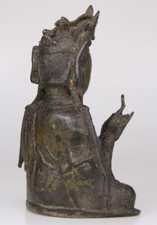 Antique Chinese Bronze Buddha Statue Ming Dynasty 16th 17th C. 4