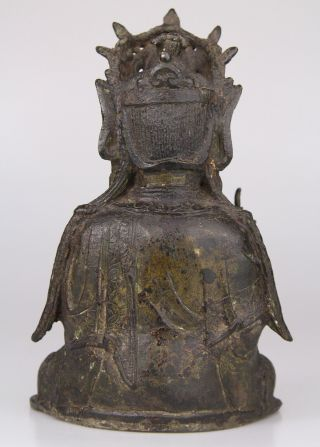 Antique Chinese Bronze Buddha Statue Ming Dynasty 16th 17th C. 6