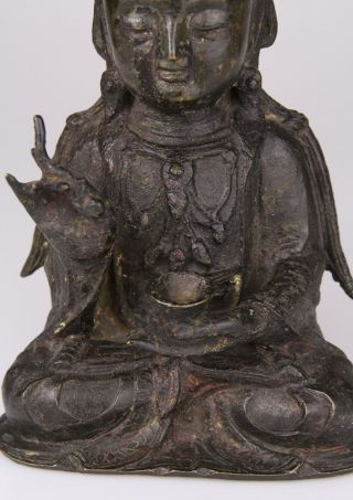 Antique Chinese Bronze Buddha Statue Ming Dynasty 16th 17th C. 7