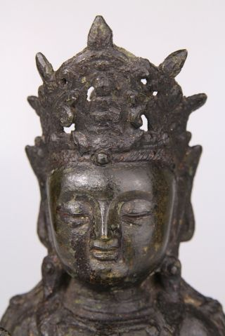 Antique Chinese Bronze Buddha Statue Ming Dynasty 16th 17th C. 8