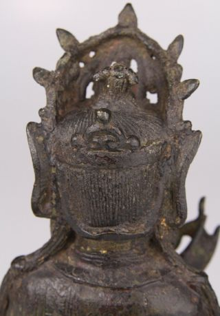 Antique Chinese Bronze Buddha Statue Ming Dynasty 16th 17th C. 9
