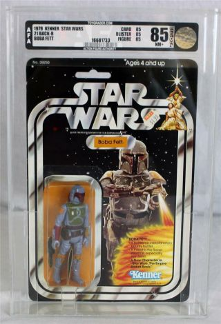 Vintage Kenner Star Wars 21 Back - B Boba Fett Afa 85 (85/85/85)