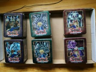 Yugioh 2002 Complete Tin Set Factory Tins Extremely Rare