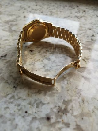 Rolex Day - Date 118338 18ct Gold Box Papers RARE Diamond Shoulders 5