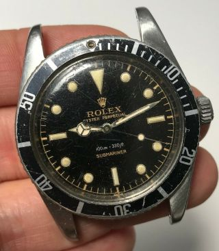 "1958 Vintage Rolex Submariner Ref.  5508 "" Gilt Gloss Dial """