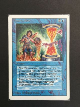 Magic The Gathering Timetwister Unlimited Mtg Vintage Rare Played Time Twister