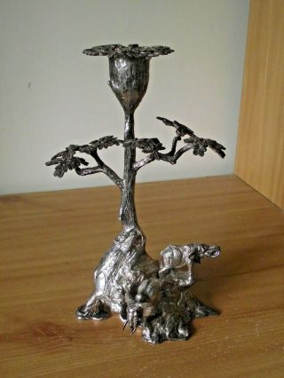 Patrick Mavros Solid Silver Root Tree & Elephant Candle Holder.  Rrp £7,  150.  00.