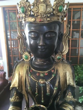 , Antique Large,  Bronze Buddah