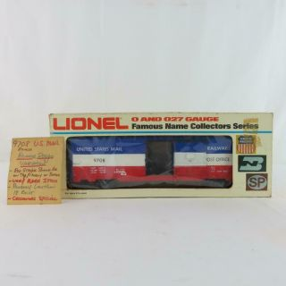 Lionel 9708 Us Mail Very Rare Reverse Stripe Variation Less Than 18 Exist