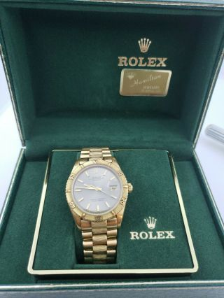 Rare Rolex 18k Datejust Thunderbird Ref 1625 With Bark President