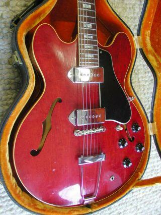 Vintage 1967 Gibson Es - 330tdc,  Dual P90 Pickups,  Cherry Red Hollowbody,  Origcase