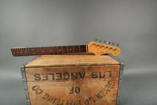 Vintage 1963 Fender Stratocaster Neck Rosewood Fretboard Clay Dots W/ Kluson