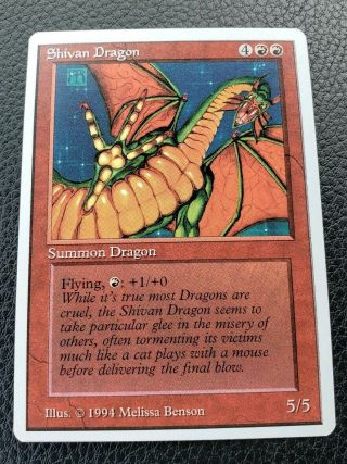 Vintage Magic | Mtg Summer Magic Shivan Dragon,
