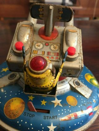 ASC Flying Space Saucer RARE Tin Toy 12