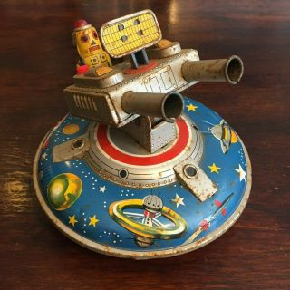 Asc Flying Space Saucer Rare Tin Toy