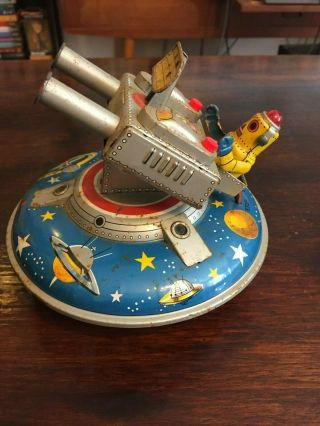 ASC Flying Space Saucer RARE Tin Toy 2