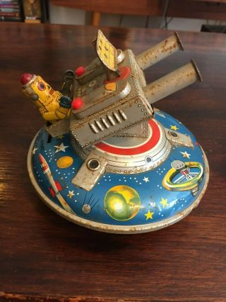 ASC Flying Space Saucer RARE Tin Toy 3