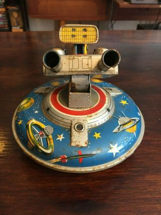 ASC Flying Space Saucer RARE Tin Toy 4