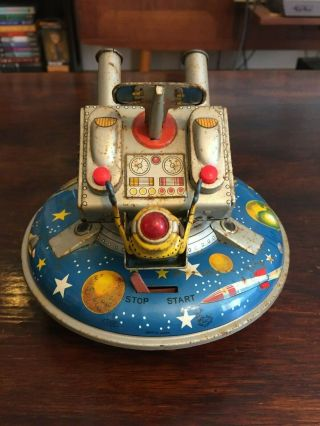 ASC Flying Space Saucer RARE Tin Toy 5