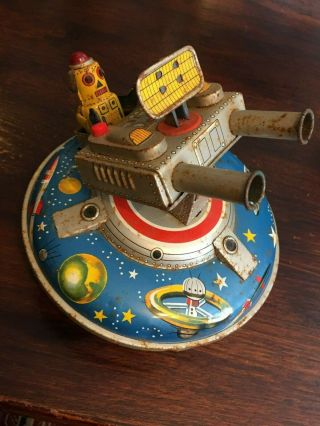 ASC Flying Space Saucer RARE Tin Toy 8