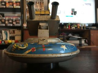 ASC Flying Space Saucer RARE Tin Toy 9