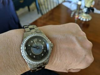 Chanel j 12 watch CHROMATIC CERAMIC with Factory Bezel Diamonds Authentic Rare 4