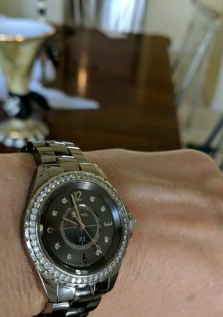Chanel j 12 watch CHROMATIC CERAMIC with Factory Bezel Diamonds Authentic Rare 5