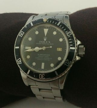 "1980 Rolex Submariner,  196800 "" Transitional "" Rare Matte Black Dial,  T - 25 Mark"