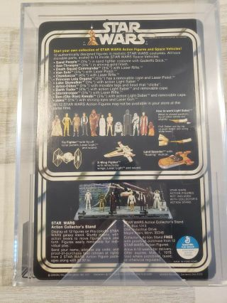 Vintage Star Wars 1978 Han Solo Small Head 12 Back - C AFA 85 (85,  85,  85) UNPUNCHED 2