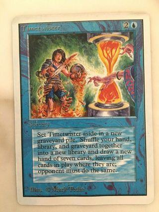 Timetwister // Unlimited // Mtg,  Magic // Vg // Lightly Played