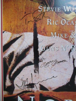 Beatles Rare Romanian Angel Promo Poster Signed By George Harrison Tom Petty,