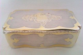 Extremely Rare 950 Solid Silver & Gold Gilt Minerva French Snuff Box C1846