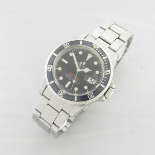 ROLEX RED SUBMARINER DATE 1680 VINTAGE WATCH 100 TROPICAL DIAL 1969 10