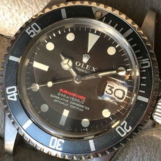 ROLEX RED SUBMARINER DATE 1680 VINTAGE WATCH 100 TROPICAL DIAL 1969 11