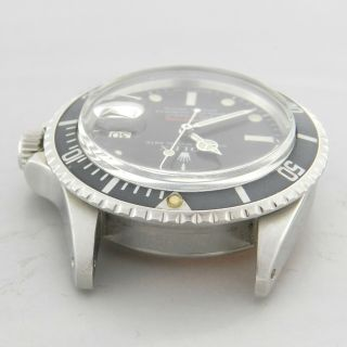 ROLEX RED SUBMARINER DATE 1680 VINTAGE WATCH 100 TROPICAL DIAL 1969 12