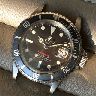 ROLEX RED SUBMARINER DATE 1680 VINTAGE WATCH 100 TROPICAL DIAL 1969 2