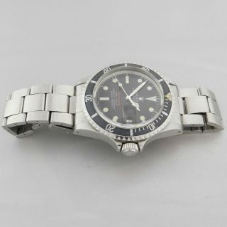 ROLEX RED SUBMARINER DATE 1680 VINTAGE WATCH 100 TROPICAL DIAL 1969 4