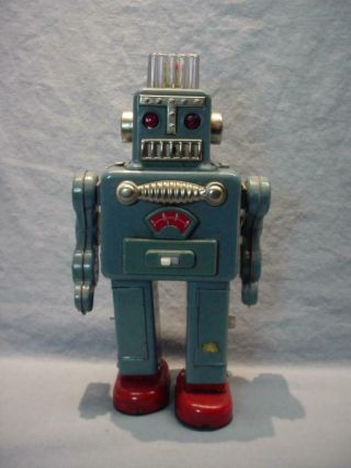 Vintage Smoking Spaceman Robot - Japan Yonezawa