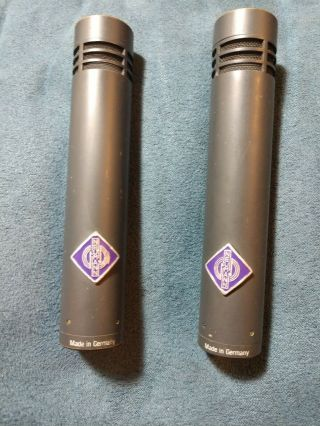 Matched Pair Neumann Km84i Vintage Small Capsule Cardioid Condenser Microphones