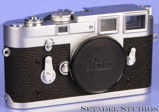 Leica Leitz M3 Single Stroke Ss Chrome Midland Elc Camera Body,  Cap Rare
