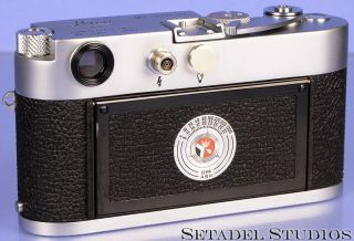 LEICA LEITZ M3 SINGLE STROKE SS CHROME MIDLAND ELC CAMERA BODY,  CAP RARE 2
