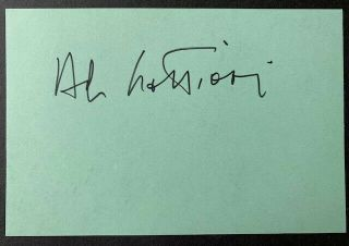 Rare - Al Lettieri Vintage Autograph - The Godfather - Mcq / John Wayne