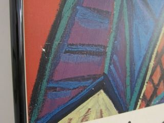 Picasso Woman in Armchair 1941 VTG Louisiana Exhibition Poster 1968 Framed 24x33 3