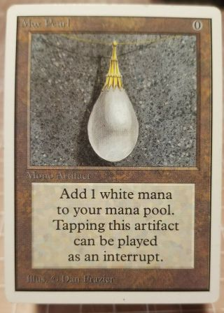 Mox Pearl Magic The Gathering Unlimited Mono Artifact Almost Unplayed