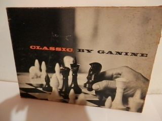 Peter Ganine Classic Chess Set 1494 Rare 1961 Art Deco 3d In Star Trek