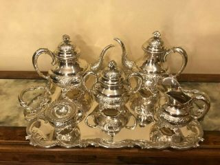4880 Gr Gorgeous Heavy Sterling Silver 925 Tea & Coffee Set.