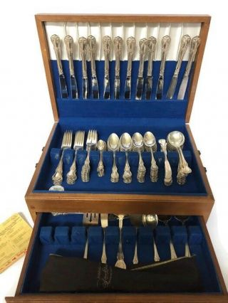 96 Piece Towle Old Master Sterling Silver Flatware Set For 12 By 7 With Servers