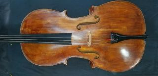Vintage 1914 Italian Cello 4/4,  Labeled By Luigi Galimberti